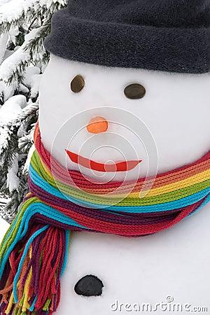 Snowman portrait