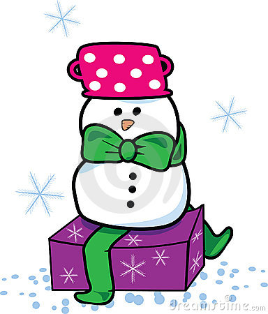 Snowman present