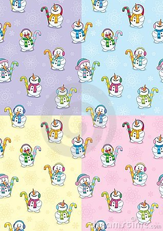 Free Snowman Seamless Patterns Stock Photo - 16262670
