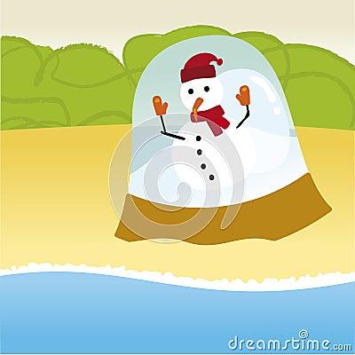 Snowman summer