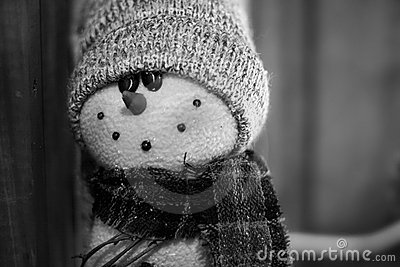 Snowman Vintage Black and White