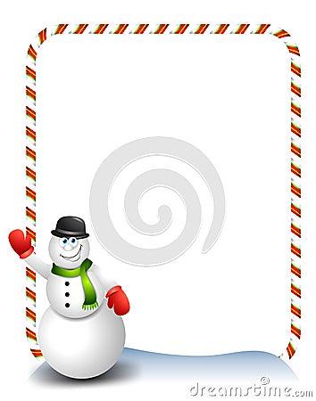 Snowman Waving Cartoon 2