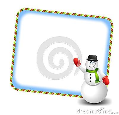Snowman Waving Cartoon 3