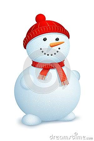 Snowman wearing scarf