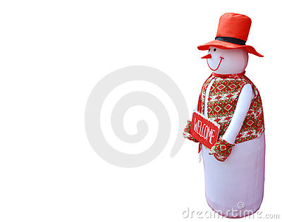 Snowman welcome Christmas background