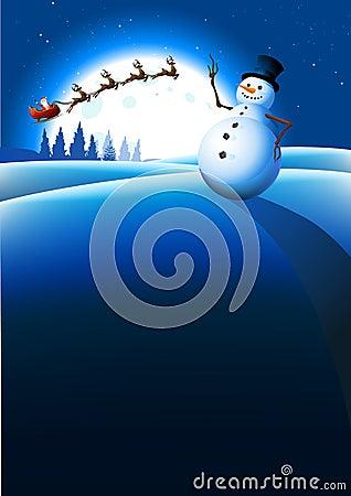 Free Snowman Winter Background Stock Photo - 17437710