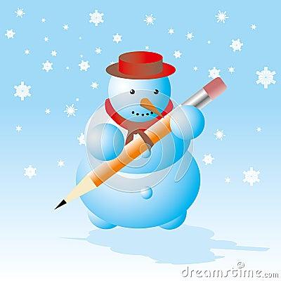 Snowman - winter break card