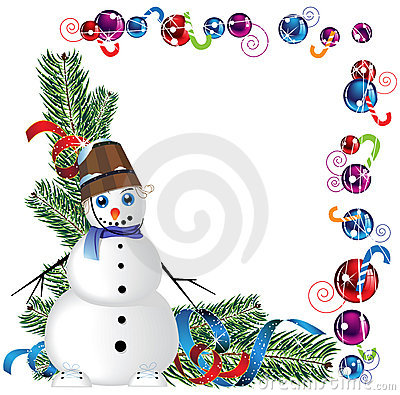 Free Snowman With A Bucket On His Head Royalty Free Stock Photography - 22595757