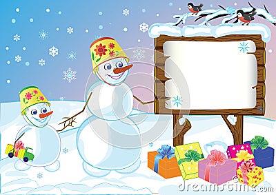 Snowmans specify celebratory gifts