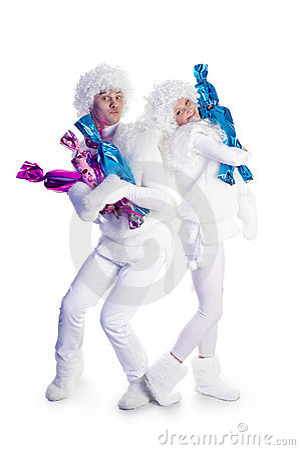 Snowmen with candies