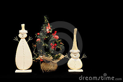 Snowmen and Christmas tree