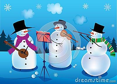 Snowmen-musicians
