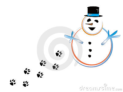 Snowmen and paw