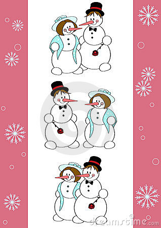 Snowmen romantic
