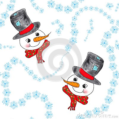 Snowmen and snowflakes
