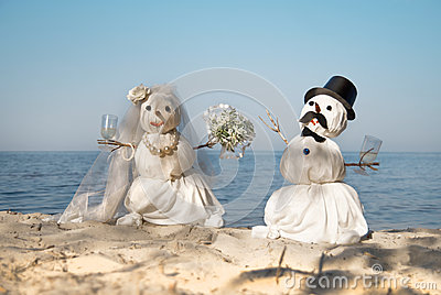 Snowmen wedding