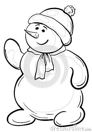 Snowmens boy, contours