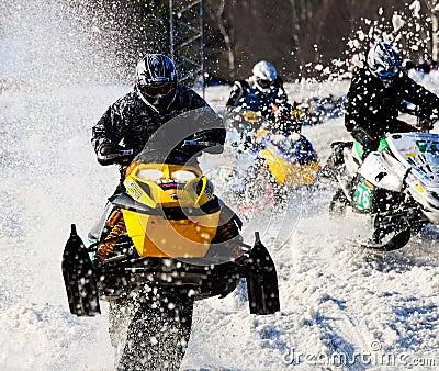 Snowmobile racing Editorial Photo