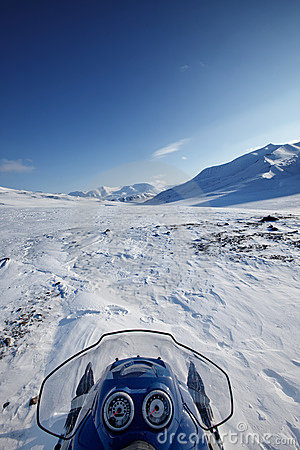 Snowmobile Winter Landscape