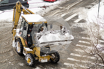 Snowplow car Editorial Image