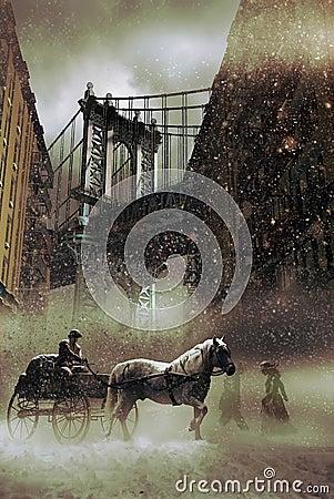 Snows in New York