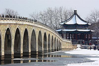 The snowscape of Summer Palace Editorial Photo