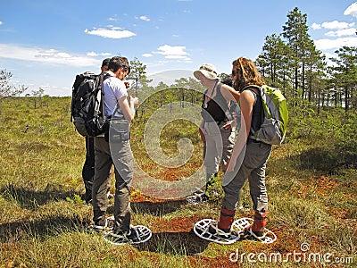 Snowshoe hike Editorial Image