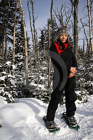 Snowshoeing/deporte de invierno