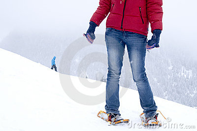 Snowshoeing and winter fun
