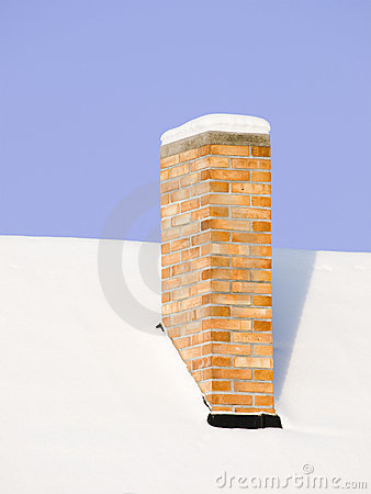Free Snowy Chimney Stock Image - 12483751