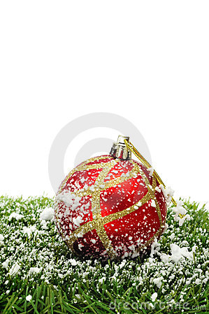 Snowy christmas ball