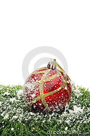Snowy christmas ball