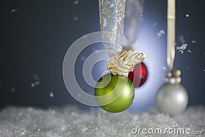 Snowy Christmas Ornaments