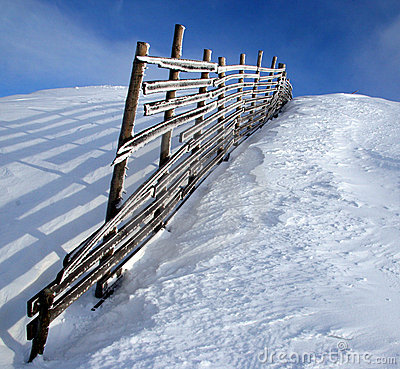 Free Snowy Fence Stock Photos - 259283