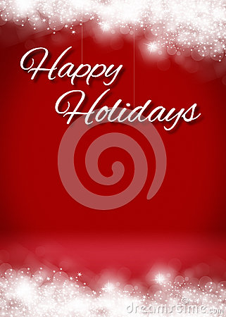 Snowy Happy Holidays 3D Card Background Stage Stock Image - Image ...
