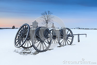 Snowy Landscape Manassas National Civil War Battlefield