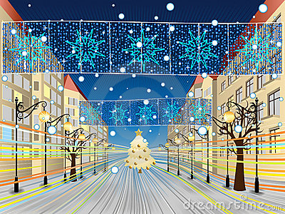 Snowy Main Street