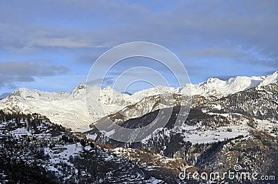 Snowy mountain views