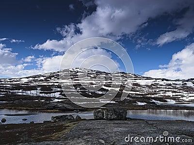 Snowy mountainous landscape