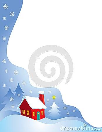 Snowy Night Christmas Border