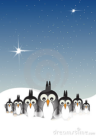 Snowy Penguins