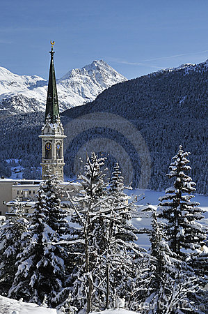 Free Snowy Scenery In St. Moritz Royalty Free Stock Images - 22757149