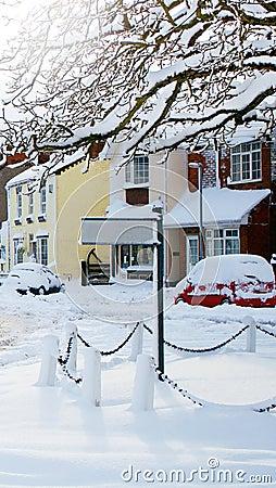 Snowy Signpost
