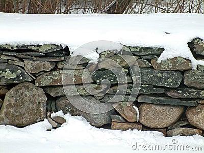 Snowy Stone Wall 2