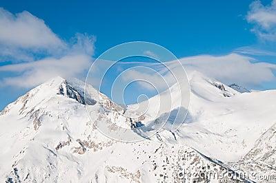 Snowy Twin Mountain Peaks