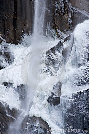 Snowy Vernal Falls