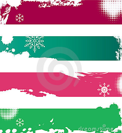 Snowy winter banners