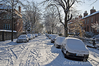 Snowy winter in Dublin Editorial Photography