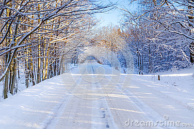Snowy-Winter In Polen Lizenzfreies Stockfoto - Bild: 28856075