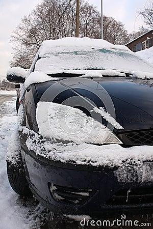 Snowy winter traffic